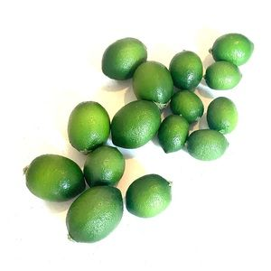 Artificial limes group of 15 very realistic limes